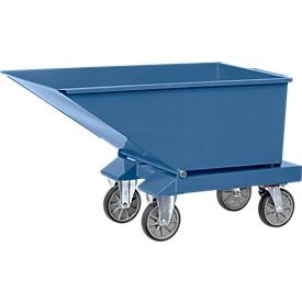 Contenedor basculante 4701, 250 l, azul RAL 5007, sin grifo de descarga ni criba