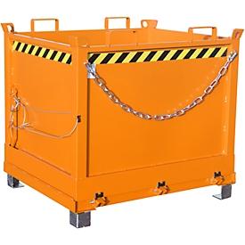 Contenedor con trampilla FB 1000, naranja