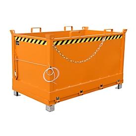 Contenedor con trampilla FB 1500, naranja