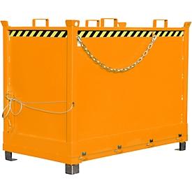 Contenedor con trampilla FB 2000, naranja