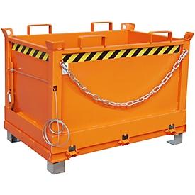 Contenedor con trampilla FB 500, naranja