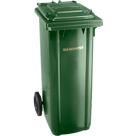 Contenedor de basura GMT, 140 l, móvil, verde