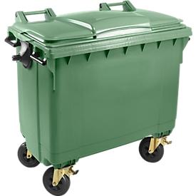 Contenedor de basura MGB 660 FD, plástico, 660 l, verde