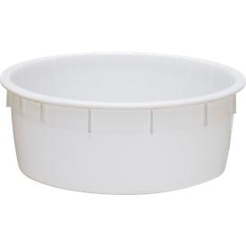 Cuba de plástico, de calidad alimentaria, apilable, 110l, natural