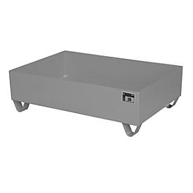 Cubeta colectora de acero sin rejilla, 1200 x 800mm, gris RAL 7005