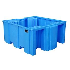 Cubeta de PE Bauer tipo WP, con superficie de apoyo, IBC y bidones de 200 l, variante WP 1/11