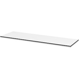 Cubierta TEQSTYLE, bordes bicolor, An 1400mm, medida especial más corta posible, blanco