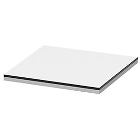Cubierta TEQSTYLE, bordes bicolor, An 400mm, blanco