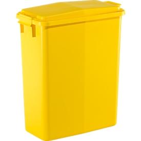 Cubo de basura 60 l + tapa amarilla