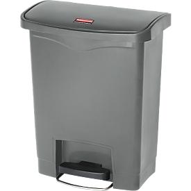 Cubo de basura con pedal Slim Jim®, plástico, capacidad 30 l, gris