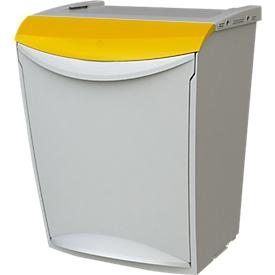 Cubo de basura Öko Fancy, 25 l, amarillo