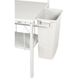 Cubo de basura serie TPB, p. mesas de embalaje serie TPB, capacidad 60l, con soporte de acero