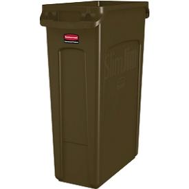 Cubo de basura Slim Jim®, 87l, marrón