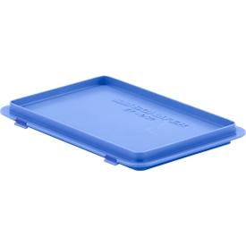 Deckel mit Haken EF-D 32 H für Kasten im EURO-Maß, blau
