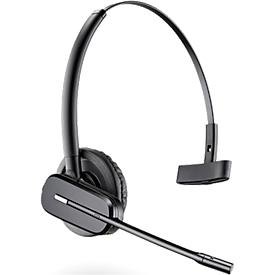 DECT-headset Plantronics CS540, snoerloos/monogeluid, incl. telefoonadapter APA-23, 120 m bereik