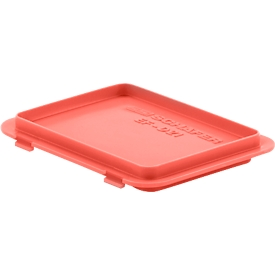 Deksel met klemmen EF-DH 21 voor bakken in Euronorm, rood