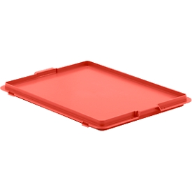 Deksel met klemmen EF-DH 43 voor bakken in Euronorm, rood