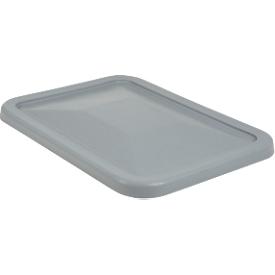 Deksel voor rechthoekige container, kunststof, 227 l, grijs