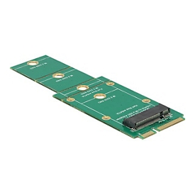 DeLOCK Adapter M.2 NGFF > mSATA - Speicher-Controller - M.2 Card - mSATA