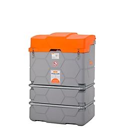 Depósito de gasóleo CEMO CUBE Outdoor Basic, volumen 1000l, tapa abatible, electrobomba 230V, An 1200 x P 800 x Al 1800mm