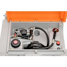 Depósito portátil CEMO Basic electrobomba Cematic Duo 24/12V, depósito de gasóleo 980l, An 1270 x P 1070 x Al 1120mm