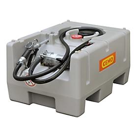 Depósito portátil CEMO DT-Mobil Easy, electrobomba CENTRI SP30, Pistola de surtidor automática, 125l, polietileno, pared sencilla, An 800 x P 600 x Al 450mm