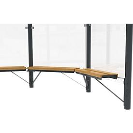 Design-Sitzbank WSM  f. Achteckpavillon Paris, L 1000 mm, Kiefernholz, pulverb. Stahl, anthrazitgrau