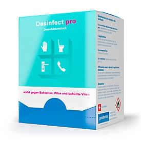 Desinfektionstücher Desinfect pro, viruzid/bakterizid/fungizid, BAG-Zulassung, in Faltschachtel, 30 Stück