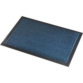 Deurmat Savane, met borsteleffect, B 1200 x L 2400 mm, wasbaar, blauw