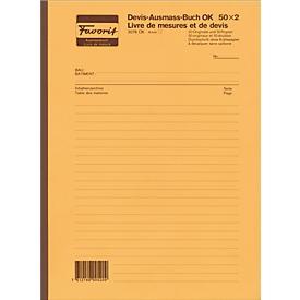 Devis-Ausmassbuch, 4 mm mit Deckbl.