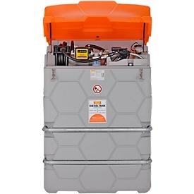 Dieseltank CUBE, Komplettanlage, versch. Größen, 1000 l, Elektropumpe 230V, Autom.-Zapfpistole
