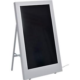 Digitaler Kundenstopper SMART Signage Display PH43F, LED, HDMI/DVI-I/DP1.2, 24/7-Betrieb, weißaluminium