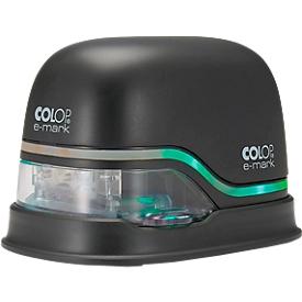 Digitaler Stempel COLOP e-mark®, 600 dpi, Micro-USB/WLAN, mit CMY Tintenpatrone, Druckkopf & Akku, schwarz