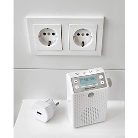 Digitalradio Soundmaster® DAB60WE, DAB+/UKW, 3 W, 3 Stationstasten & je 20 Festsenderspeicher, Bewegungssensor, Bluetooth/USB, Steckdose/Akku, weiß
