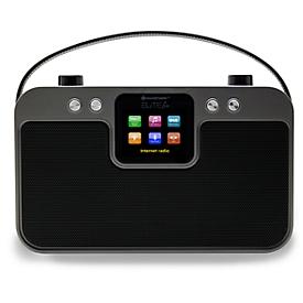 Digitalradio Soundmaster IR4400, Internet/DAB+/UKW/Bluetooth, Netzwerkplayer, USB/Netz/Batterie, tragbar