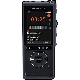 Diktiergerät Olympus DS-9000, mit 360-Grad-Mikrofon, USB-Docking-Station, mit Schiebeschalter