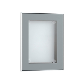 Display-informatiebord, aluminiumzilverkleurig geanodiseerd, 328 x 415 mm