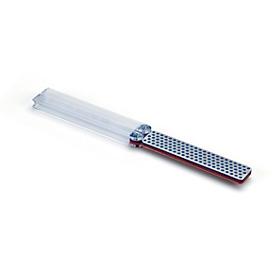 DMT Diamant slijper DiaFold, langwerpig, dubbelzijdig grof 45 µ/fijn 25 µ, droog & met water te gebruiken, inklapbare grepen, L 240 mm, blauw-rood