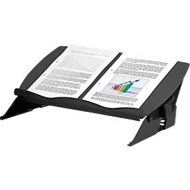 Documentenhouder Fellowes Easy Glide, verstelbaar in hoogte en breedte, ergonomisch, zwart/grijs