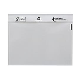 Dokumententasche Novafix, selbstklebend, Format C6, transparent neutral, LDPE, 250 Stück