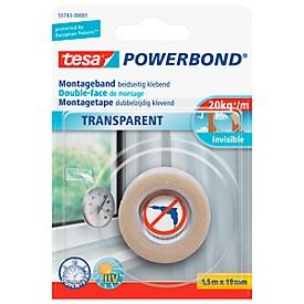 Doppelseitiges Klebeband tesa Powerbond® Transparent