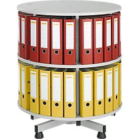 Draaibare ordnerzuil met 2 etages, zonder ordners, h 880 mm