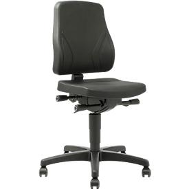 Drehstuhl All-In-One Trend 9633, mit Rollen, Integralschaum, schwarz
