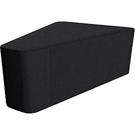 Driehoek Wall In, zwart