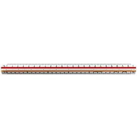 Driekantige schaallat rotring ,landmeetkunde : 1:500, 1:1000, 1:1250, 1:1500 en 1:2000