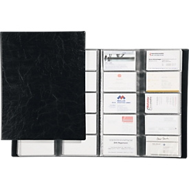 DURABLE boek voor visitekaartjespapier, voor 400 visitekaartjes, 20 stuks, zwart