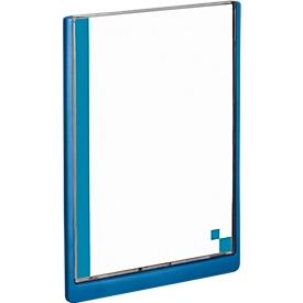 DURABLE Info-Display CLICK SIGN, 210 x 297 mm, blau, 5 Stück