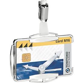 Durable kaartenhouder RFID Secure Mono, voor 1 kaart met clip-bevestiging, 10 stuks