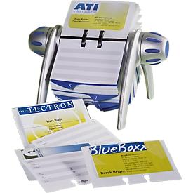 DURABLE kaartenmolen Visifix-Flip, voor 200 kaarten, aluminiumkleurig