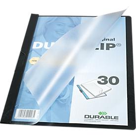 DURABLE klemmap DURACLIP, A4, kunststof, met clip, zwart